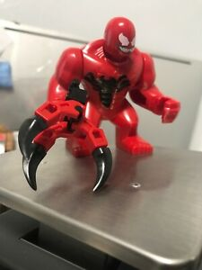 Carnage Marvel Comics Big Fig Lego Moc Minifigure Kids Gift Claw Included