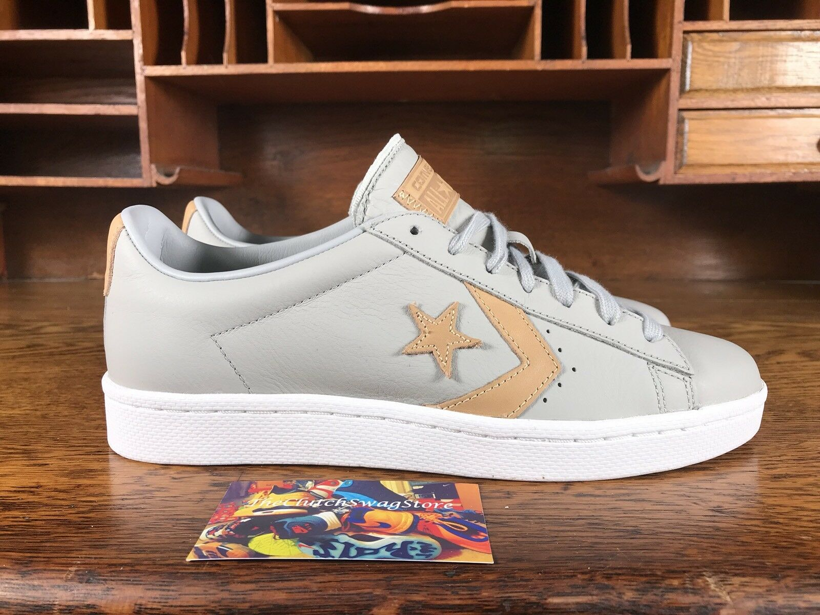 Converse Pro Leather 76 Low Top baskets gris Tan 155666C Multi Tailles Available