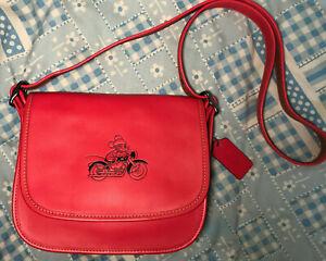 New-COACH-DISNEY-Patricia-Crossbody-Bag-Mickey-Mouse-Minnie-Bright-Red-F59359
