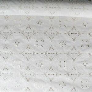 Tovaglia Copertura Tavola Plastica Plastificata Fantasia Ricamato Bianco H 140cm