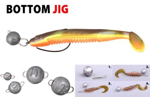 //10 g //14 g.od.18 g Spro Bottom Jig Cheburashka  3g.//5 g //7 g Flex-Bleikopf