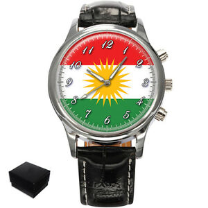 KURDISTAN KURDISH FLAG GENTS MENS WRIST WATCH  GIFT ENGRAVING - Plymouth, United Kingdom - FOR ENGRAVED PRODUCTS: Engraved product can be return only in the case if item you purchased from us is found to be faulty!!! If in the unlikely event the product you purchased from us is found to be faulty we will offer you a r - Plymouth, United Kingdom