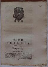 SENTENZA SACRA ROTA FOLIGNO UMBRIA IPOTECA VILLA VESCIA FOLIGNO SAN PAOLO 1822
