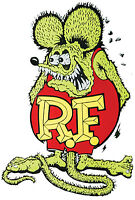 Rat Fink Decal – Green Small Adhesive On Back
