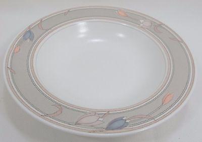 Mikasa Intaglio Soup Salad Bowl  MEADOW SUN #CACO2 Pastel Tulips Cream & Taupe