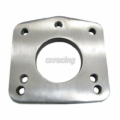 CXRacing 3-bolt to T4 Turbo Adapter Flange Header/Manifold Stainless Steel