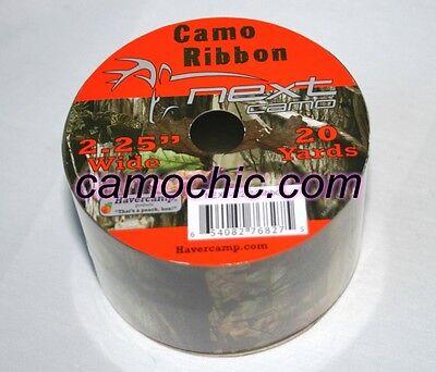 "Next Camo Gift Wrap Ribbon 2.25"" 20 Yards, Camouflage Birthday Wedding"