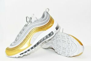 Details about Nike Womens Air Max 97 SE Size 6.5 Metallic Silver Grey Gold Shoes AQ4137 001