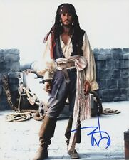 JOHNNY DEPP In-person Signed Photo - Pirates of the Caribbean - PRICE REDUCED