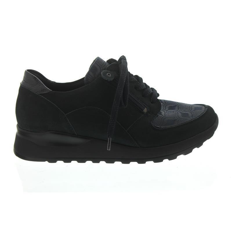 Waldläufer ocean Hiroko-Soft, Sneaker, Nubuk/Lack/Stretch, ocean Waldläufer notte, Weite H H64007 464ede