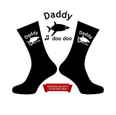Daddy Shark Socks Mummy Grandpa Grandad Brother Uncle Auntie Personalised Gift Online Shop