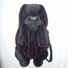 Plush Dog Children's Backpack by Mango Teddy Bear Co. - Black Lab