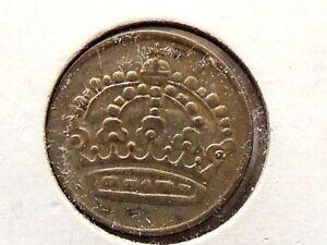 1957-Swedish-Twenty-Five-25-Ore-Silver-034-Gustaf-Vl-Adolf-034-Coin
