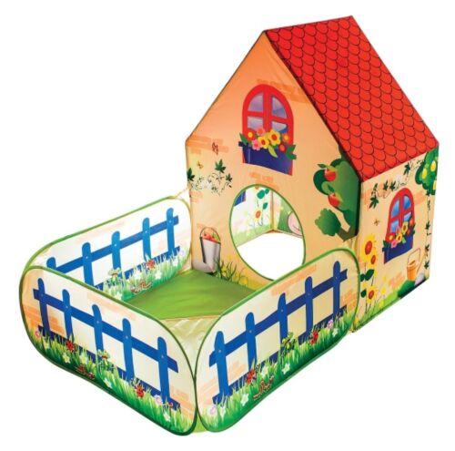 Ab 3 Jahre Kinder Spielhaus zum hineinkrabbeln für Bällebad mit Pop Up Funktion