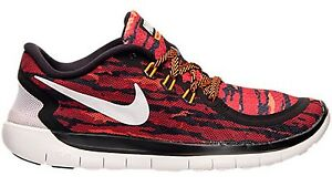 super popular adbae b5d16 Details about NEW Nike FREE RUN 5.0 PRINT (GS) sz 6Y BLACK WHITE RED  Running Shoes Sneakers