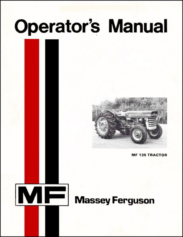 Massey Ferguson MF 135 Tractor Manual 1969 MF 150 165 410 420 3000 3100 MF  V   eBay