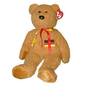 Ty Large Plush Beanie Buddy - Germania ( Bear German Exclusive ) MWMT