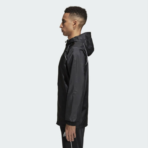 Adidas Boys Waterproof Jacket Kids Water Resistant Hooded School Rain Coat