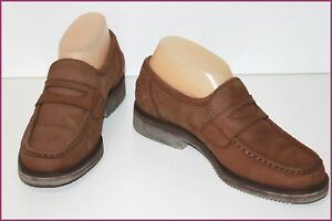 LACOSTE-Mocassins-Cuir-Marron-Doubles-Cuir-T-4-5-37-5-BE