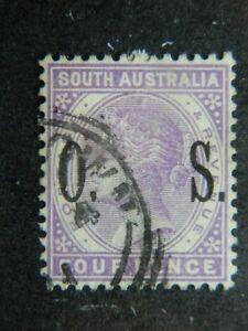 1838 South Australia Sc O81 (sg O84) Utilisé Cat 10 $-afficher Le Titre D'origine