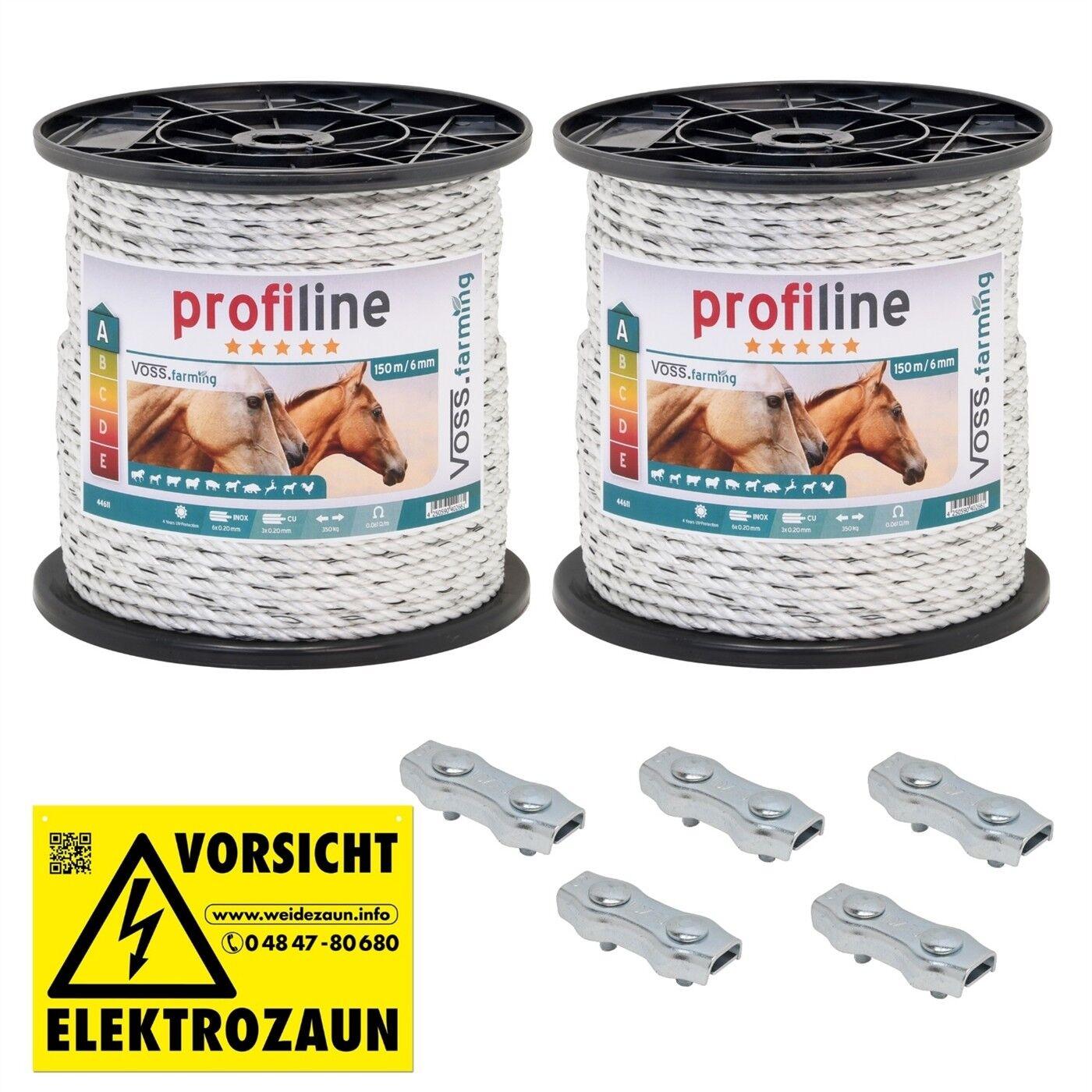 150-1500m 6mm Weidezaun Seil Elektro Elektro Elektro Zaun Rinder Ziege Schaf Schwein Pferd Pony 6b2808
