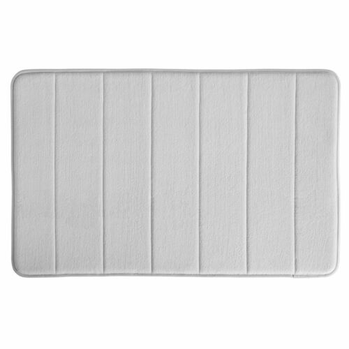InterDesign Soft Memory Foam Non-Slip Gray Bath Mat 2 Sizes