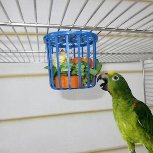 2xBird Parrot Feeder Cage Fruit Vegetable Holder Cage Hanging Basket'Container/_7
