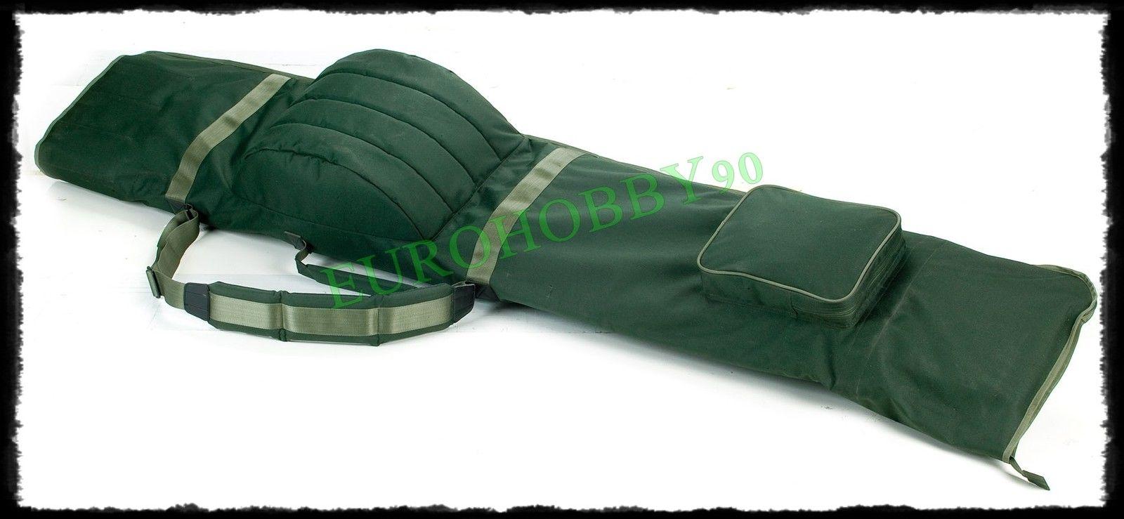 FODERO CARSON IMBOTTITO DA CARPFISHING PER 4 CANNE verde MIMETICO 13 PIEDI CARPA