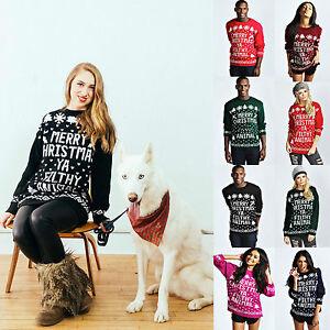 Unisex-Christmas-Sweater-Merry-Christmas-Ya-Filthy-Animal-Xmas-Novelty-Jumpers