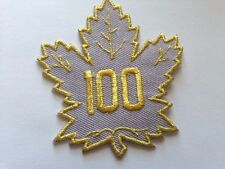 """Toronto Maple Leafs 100 NHL Jersey Patch 4"""" Air Canada Gold Silver Iron On Sew"""
