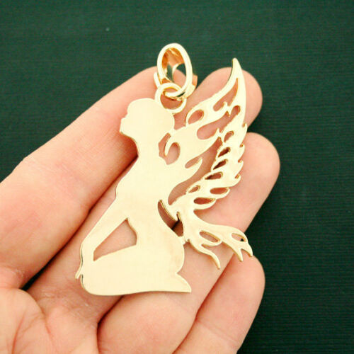 Large Fairy Charm Antique Gold Tone Beautifully Detailed GC1124