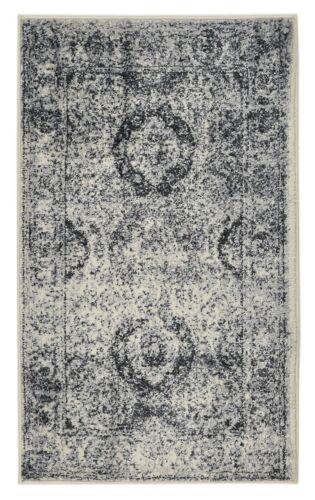 Oriental Vintage Persian Aubusson Grey Ivory Area Rug 5/' Round 5/'x7/' 8/'x10/'