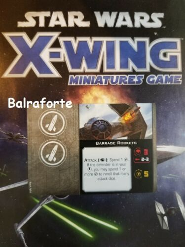 X-Wing Miniatures Missile Slot upgrade card singles second edition 2.0 Talents