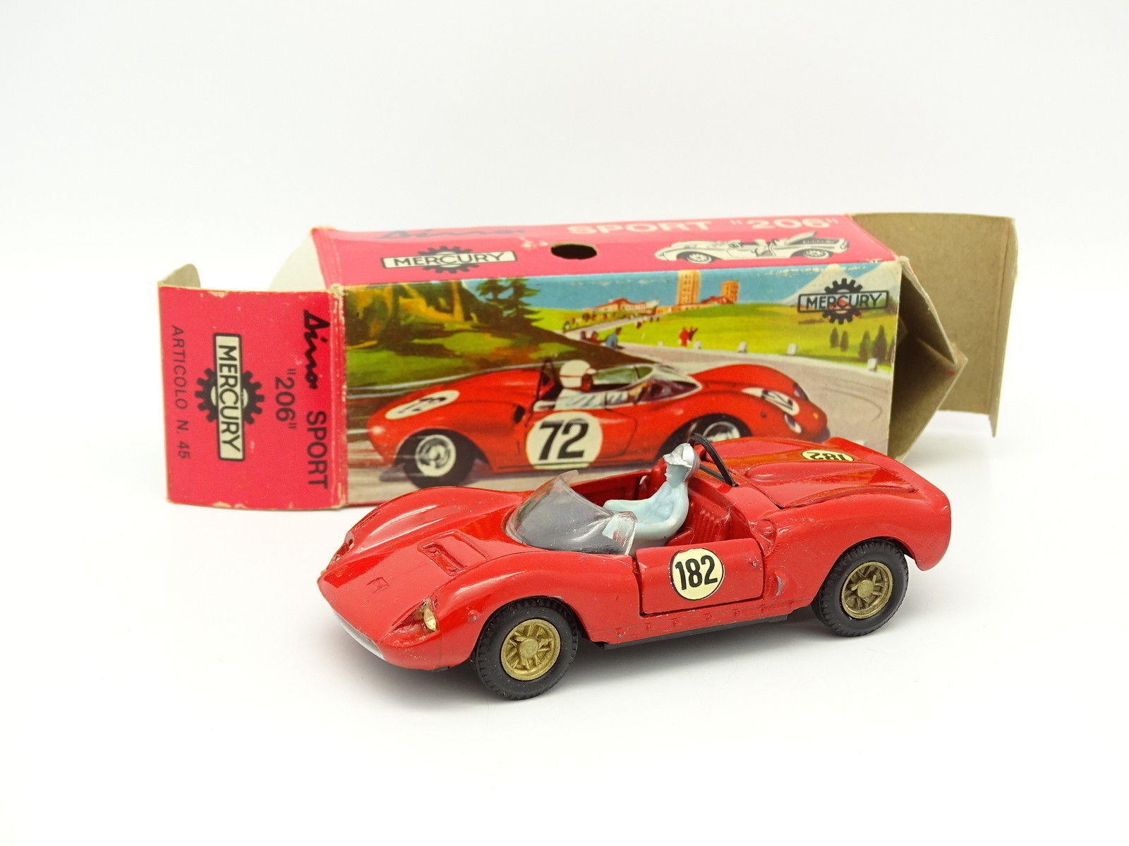 La nuit du carnaval de Noël, plus la nuit est excitante Mercury 1/43 - Ferrari Sport Dino 206 Art45 | Shopping Online