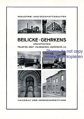 Constructive Architect Beilicke & Gehrkens Hildesheim Xl Ad 1926 Germany Industry German 1920-29