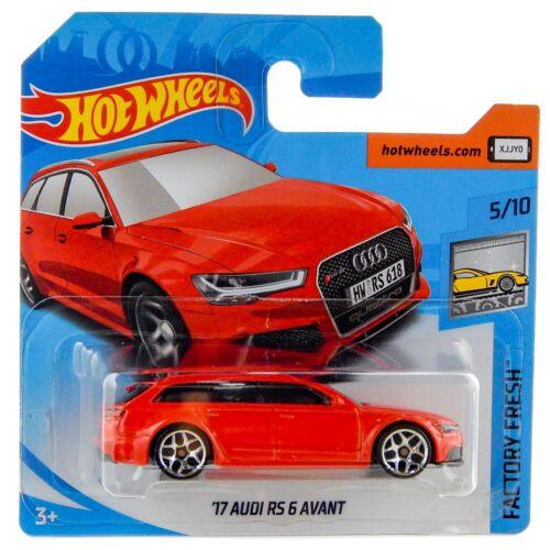 2017 Audi RS6 Avant A6 4G Red Hot Wheels Factory Fresh 2018 Short Card #271