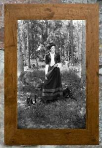 Fantastic-Women-Holding-Gun-Hunting-with-Dogs-Antique-5x7-Photo-Print