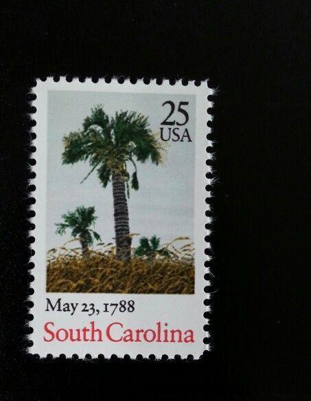 1988 25c South Carolina, The Palmetto State Scott 2343