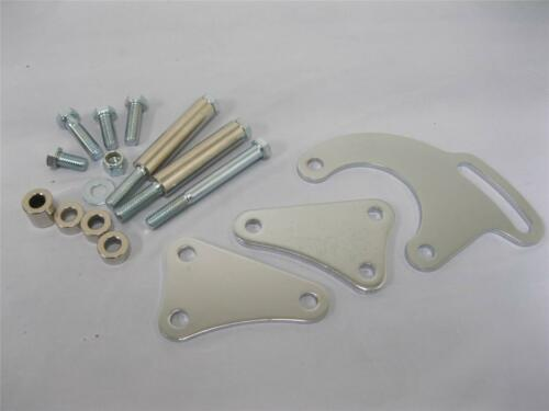 Small Block Chevy CHROME Power Steering Bracket for Long Water Pump Saginaw ACan