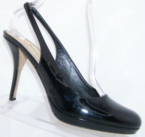 kate spade kenzie black patent leather round toe elastic