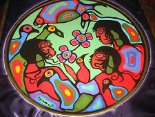 Original Norval Morrisseau Rosenthal Plates RARE Set of 4, Children of Earth
