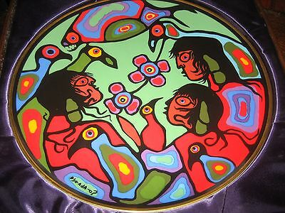 Norval Morrisseau Rosenthal Plates RARE Set of 4, Children of Earth Anna Perenna