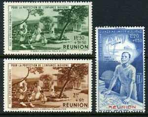 French-Colony-1944-Reunion-Orphan-Semipostal-Set-MNH-O869