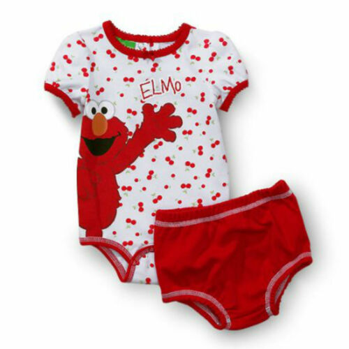 Sesame Street Bodysuit With Diaper Cover Elmo Red 2 Piece  Newborn 0-3 3-6 6-9