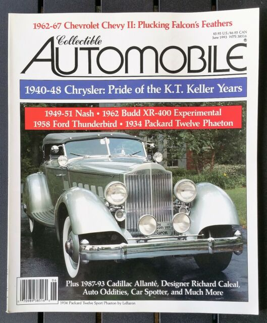 b3f224a5b1a Collectible Automobile Magazine June 1993 - 1949 - 1951 Nash - Ford  Thunderbird
