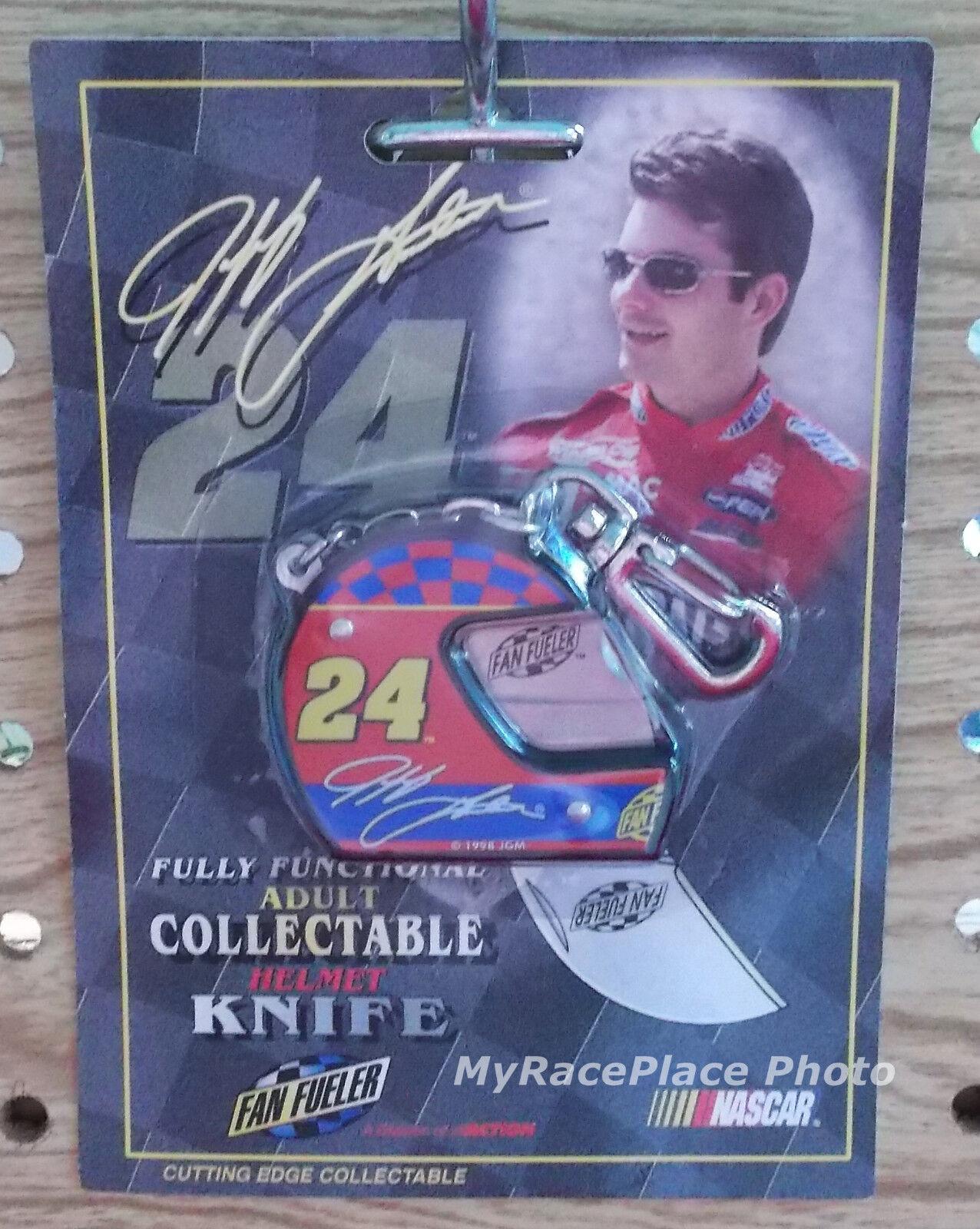NASCAR Jeff Gordon Dupont __ CLASSIC HELMET SHAPED KNIFE KEY RING KEYCHAIN