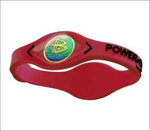 1 x New Power Balance Wristband Size Small 17.5cm Red/Black in box fast del