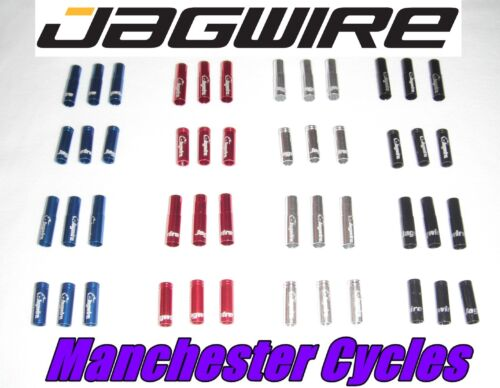 New Jagwire 5mm Bike Brake Cable Alloy Ferrules Crimps red black blue or silver
