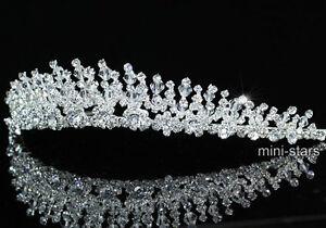 Hochzeit Handgefertigt Diadem Benutzen Swarovski Kristall T1405 Ebay