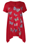 Plus-Size-Ladies-Short-Sleeve-Butterfly-Print-Dip-Hanky-Hem-Casual-T-Shirt-Top thumbnail 8